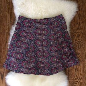 Reformation Paisley Mini Skirt